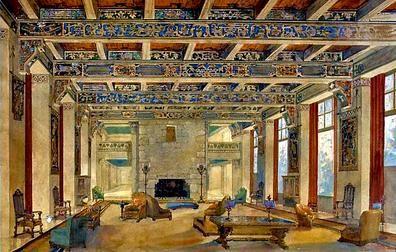 Lovins' Ahwahnee interior design - Ahwahnee Hotel - Wikipedia, the free encyclopedia  Ahwahnee