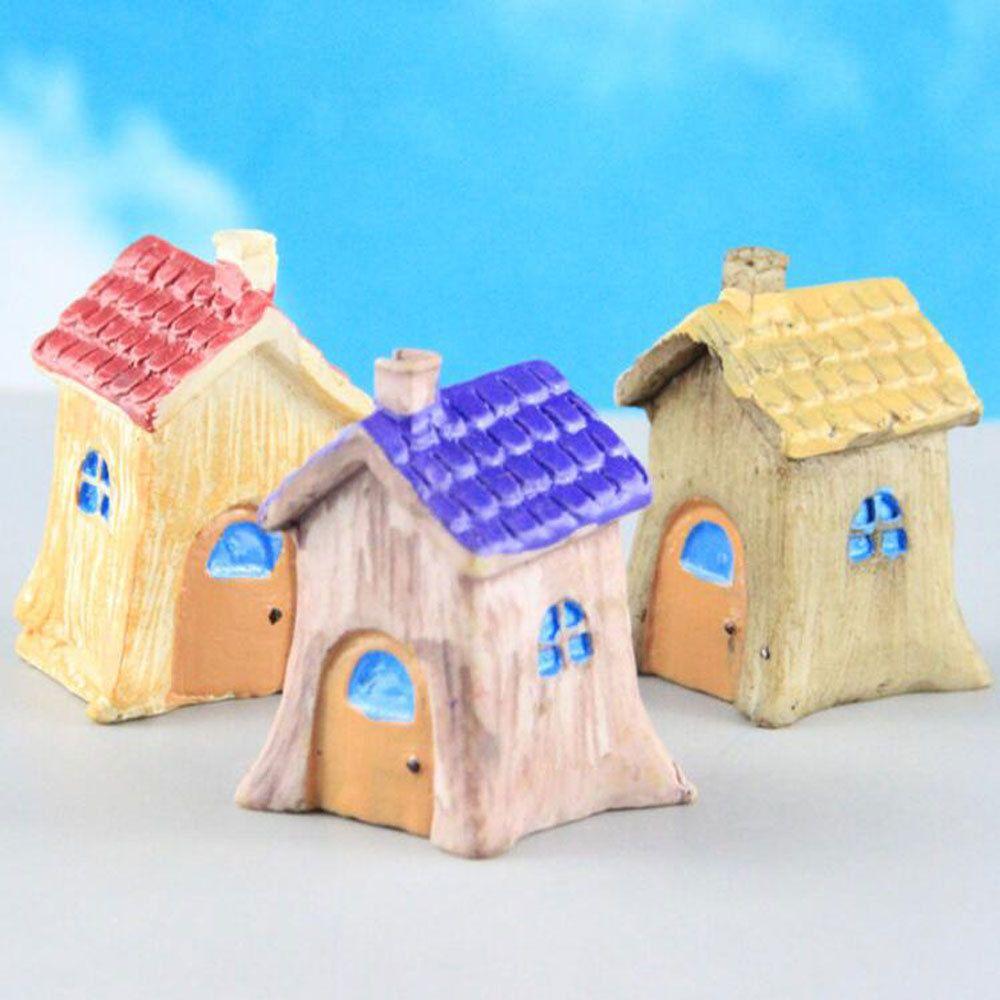 Resin Decor Tiles Tree House Ornaments Decorative Building Moss Micro-landscape