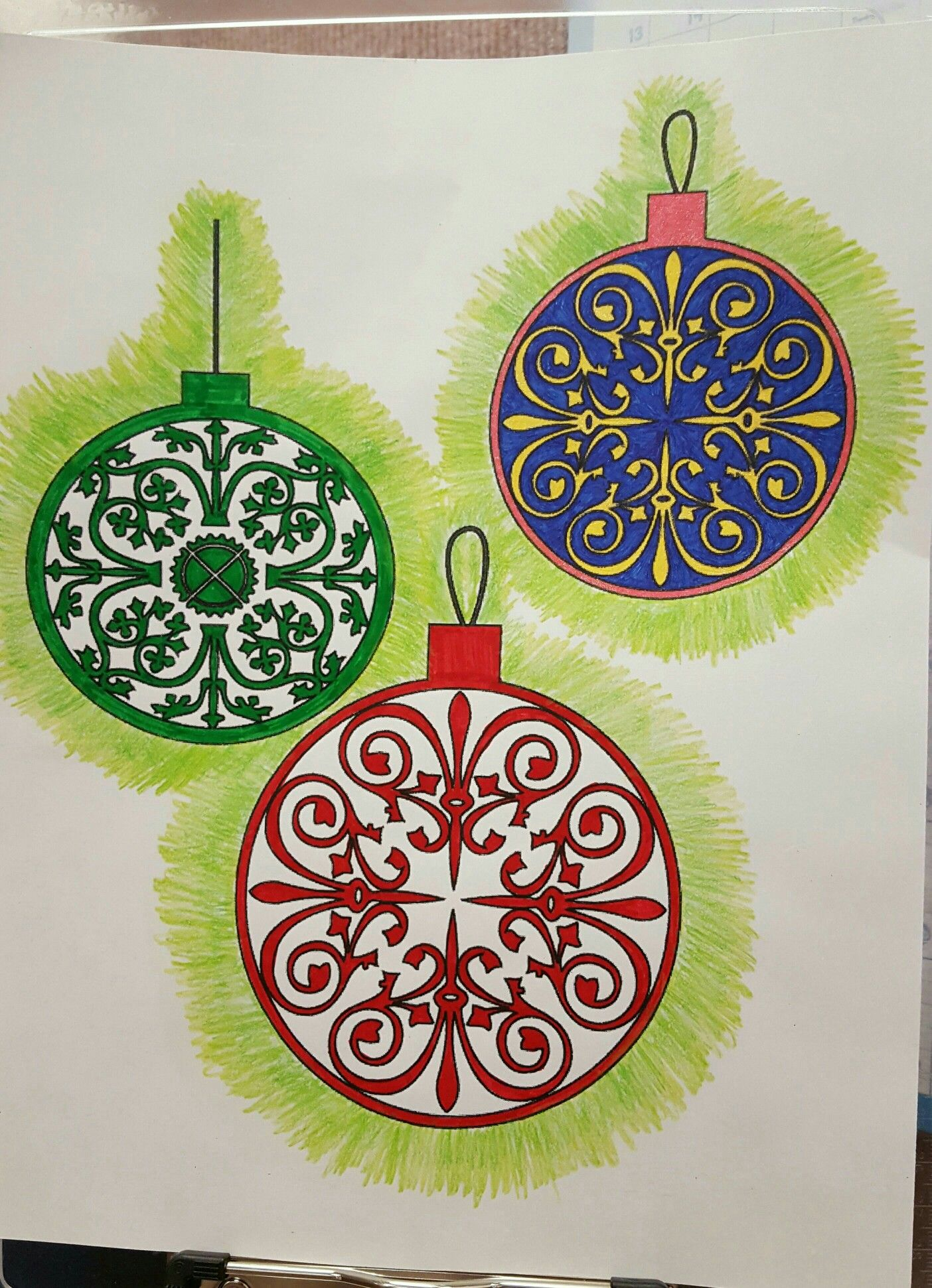 ornaments   Finished Coloring Pages   Pinterest   Ornament