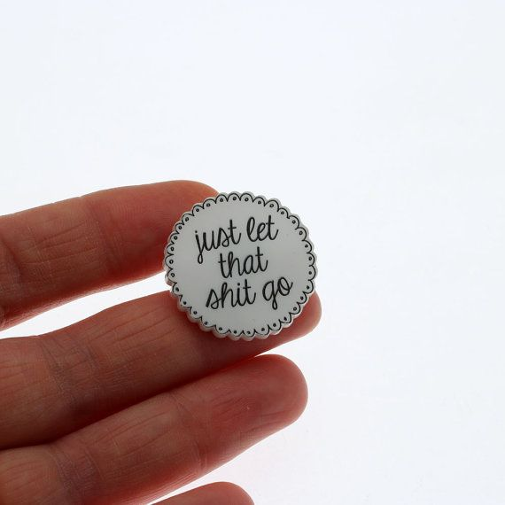 Just let that ST go... Acrylic Pin brooch with clutch by Punkypins