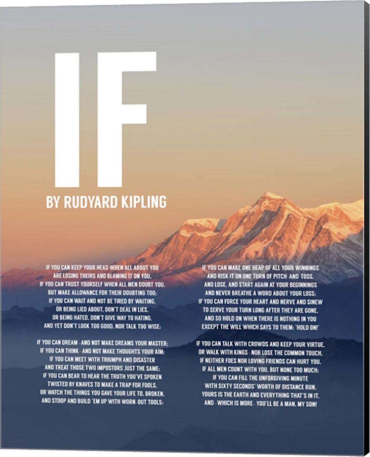 Metaverse If By Rudyard Kipling Mountain Sunset By Quote Master
