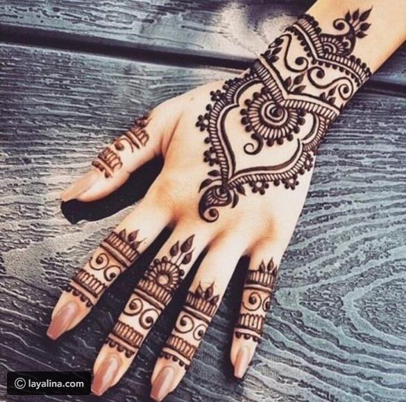 أجمل نقوش حناء ٢٠١٧ لعيد الفطر ليالينا Henna Designs Hand Henna Tattoo Designs Henna Body Art