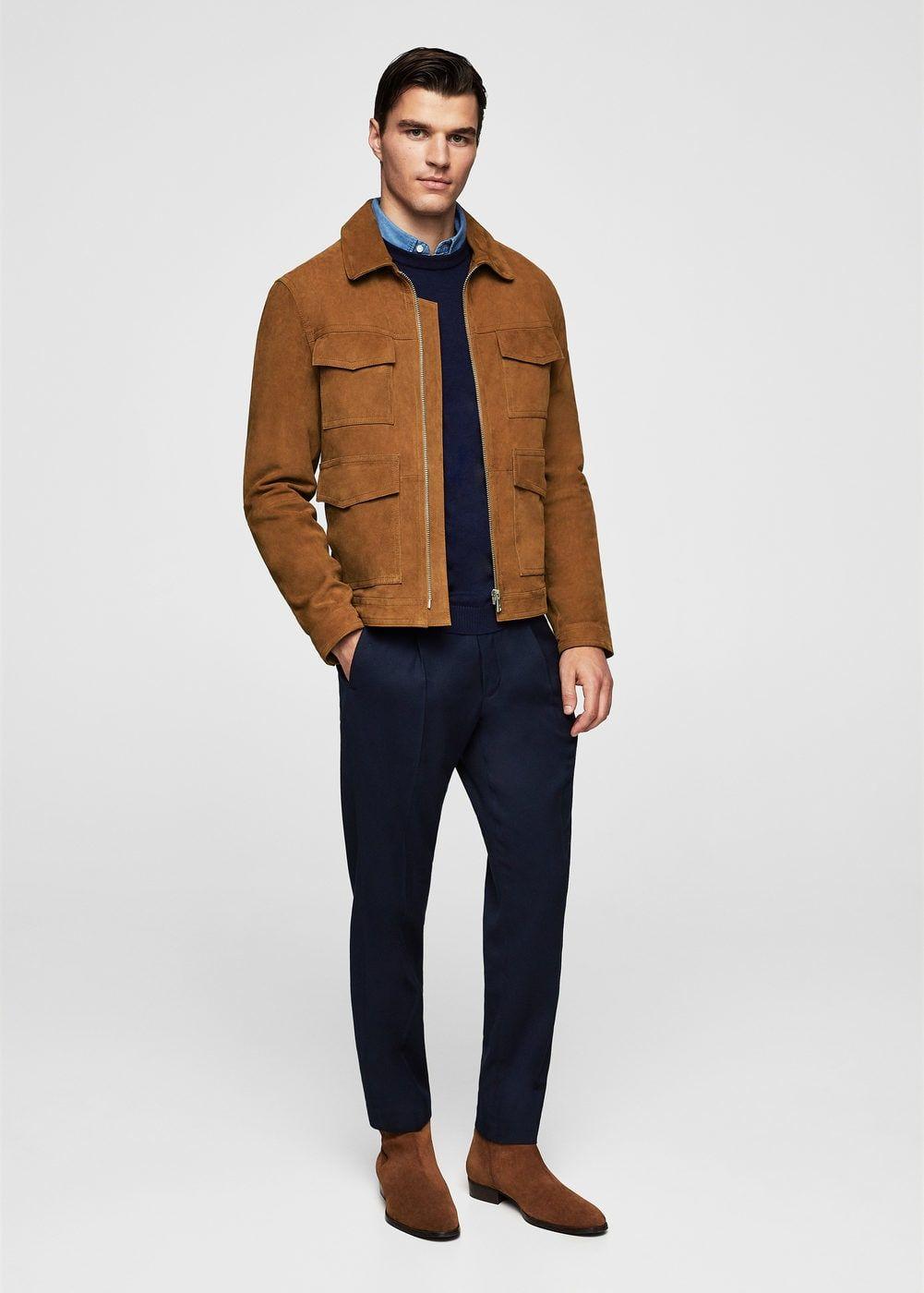0606ea37dc9 flap-pocket suede jacket - Men in 2019
