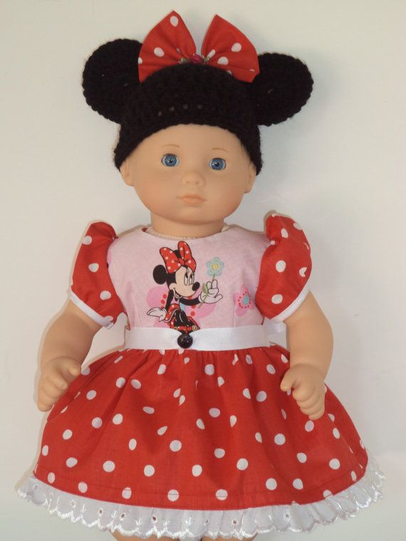 Red Minnie Mouse Dress With Ears For American By