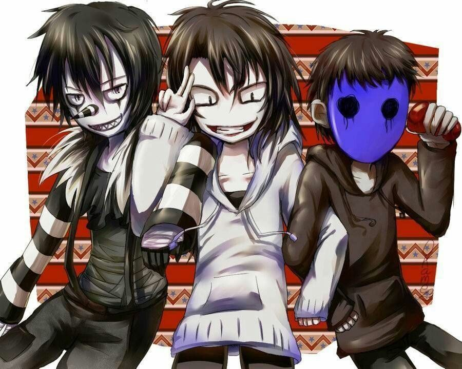Laughing Jack Jeff The Killer And Eyeless If U Saw That It Said Was Masky I KNOW THAT ALREADY Pinned From Someone Else