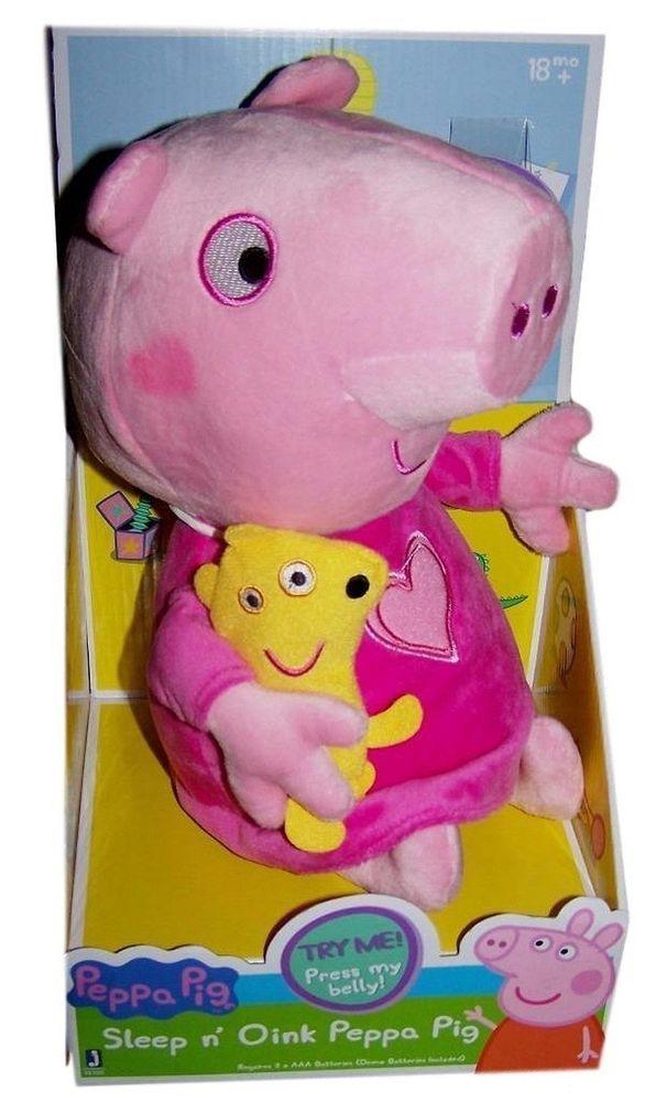 07809e2f410 Sleep N Oink Peppa Pig Plush Talking Toy  PeppaPig