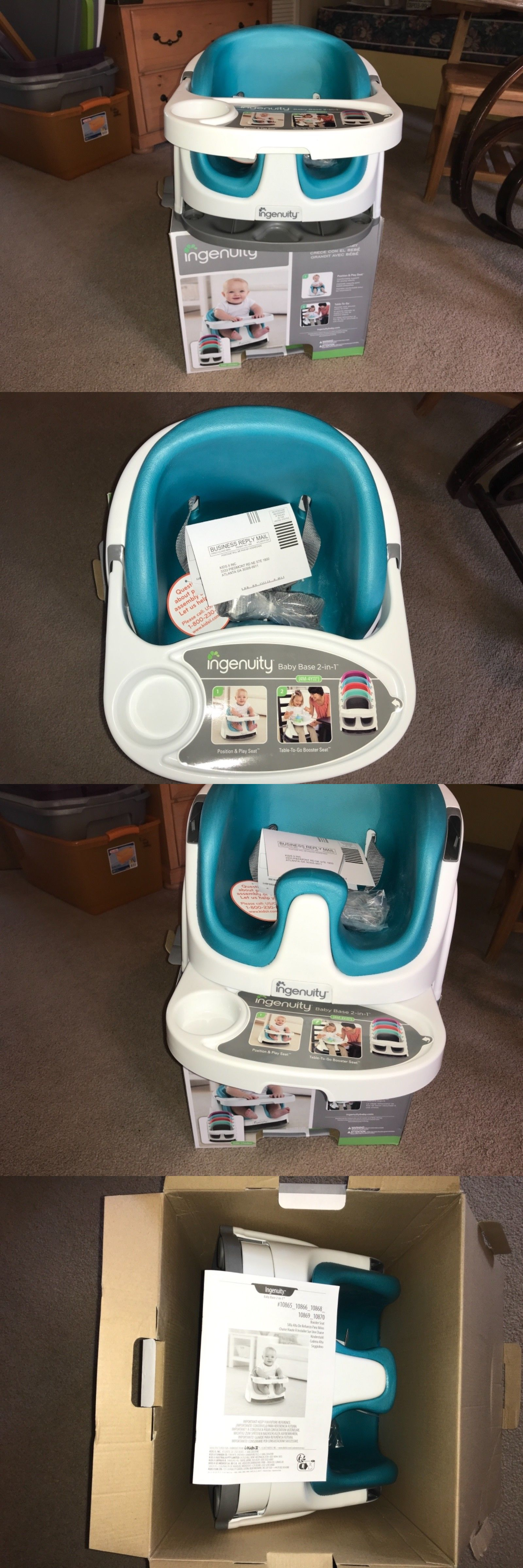 Booster Chairs 134276 New In BoxIngenuity Baby Base Chair 2 1 Infant To ToddlerTeal BUY IT NOW ONLY 4499 On EBay