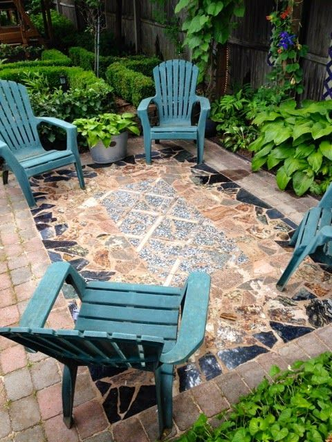 My Marble And Granite Scrap Area Rug Patio Patio Flooring Diy Recycled Granite