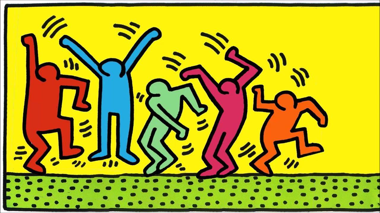 Keith Haring - Dancing Figures Flash Animation | Keith haring art ...