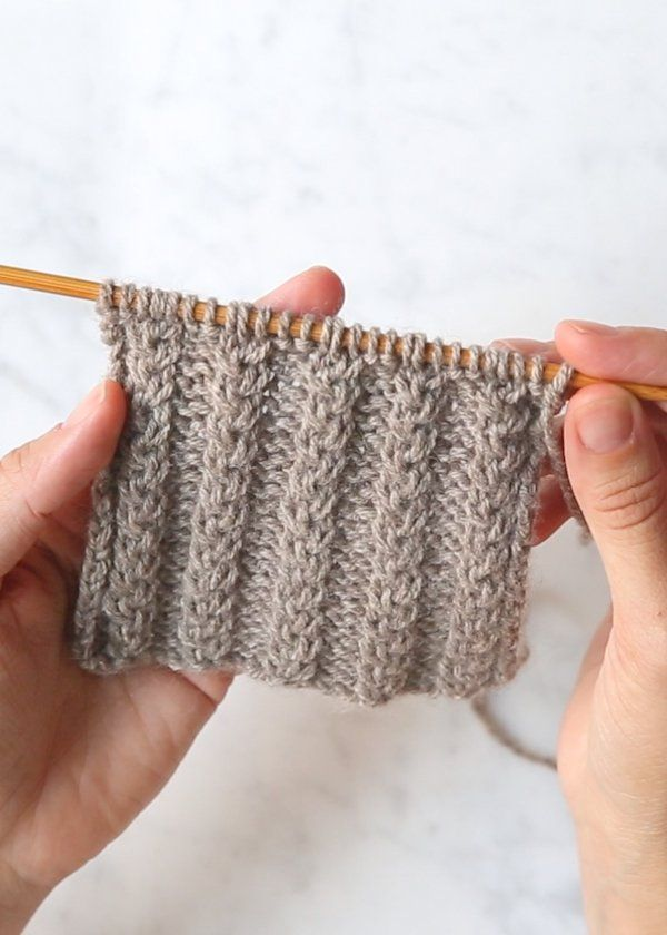 Braided Ribbing Free Knitting Stitch Video Tutorial By Purl Soho