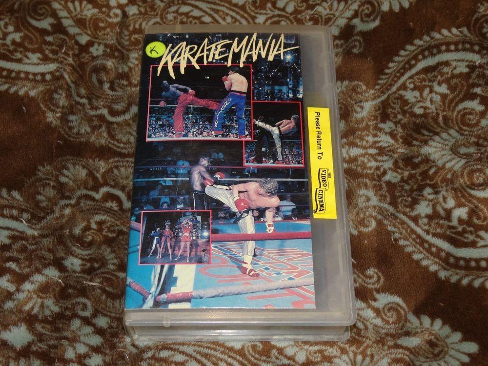 Karatemania (VHS, 1988) OOP 1st Vestron Martial Arts/MMA/PKC Karate *NOT ON DVD*