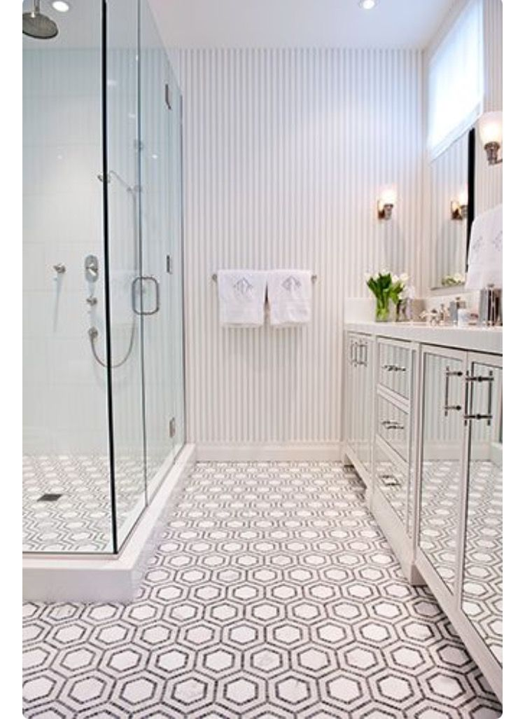 Pin By Tyler Wynne On Childrens And Guest Bathrooms Pinterest - Honeycomb tile bathroom