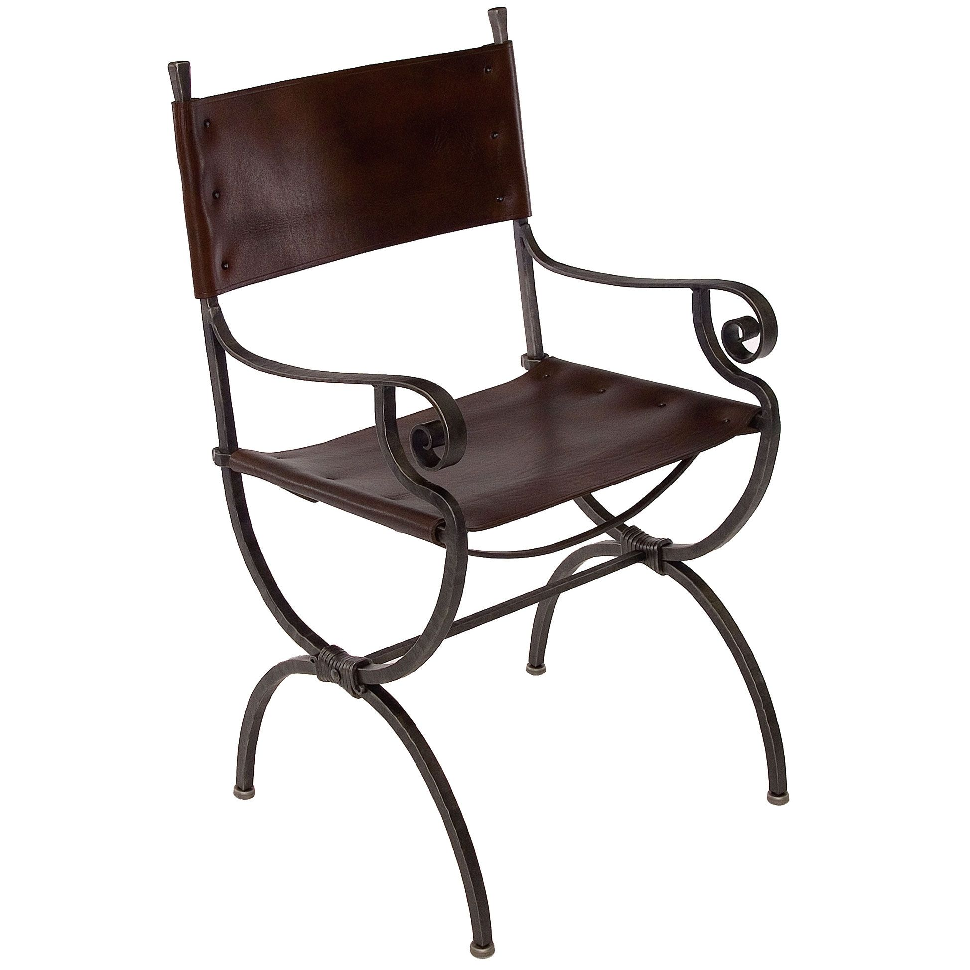 Legacy Dining Chair With Arms By Charleston Forge Iron Furniture