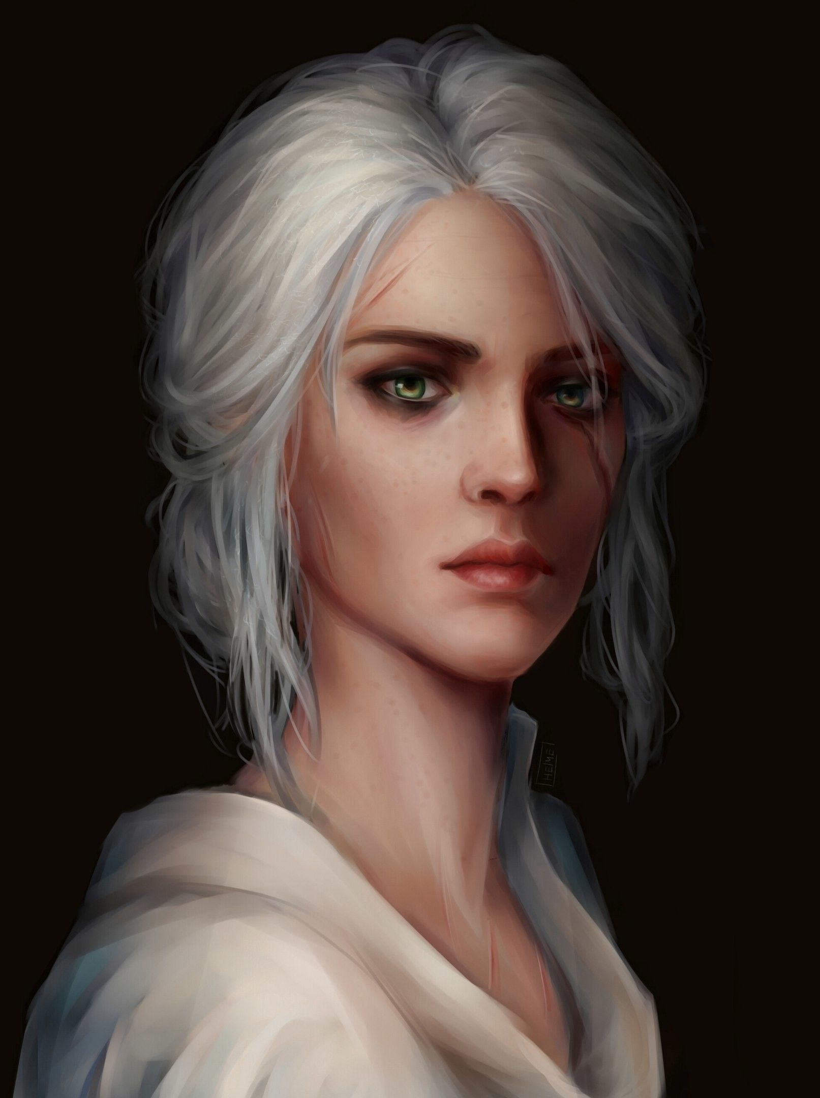 artstation ciri anna helme elf things in 2018 ciri art