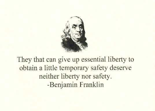 Benjamin Franklin They That Can Give Up Essential Liberty To