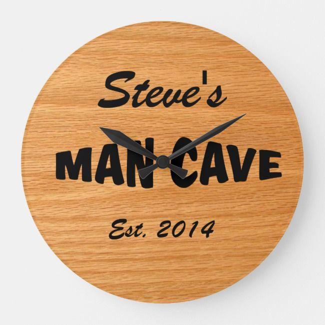 Custom Man Cave Clock | Zazzle.com #mancavegarage