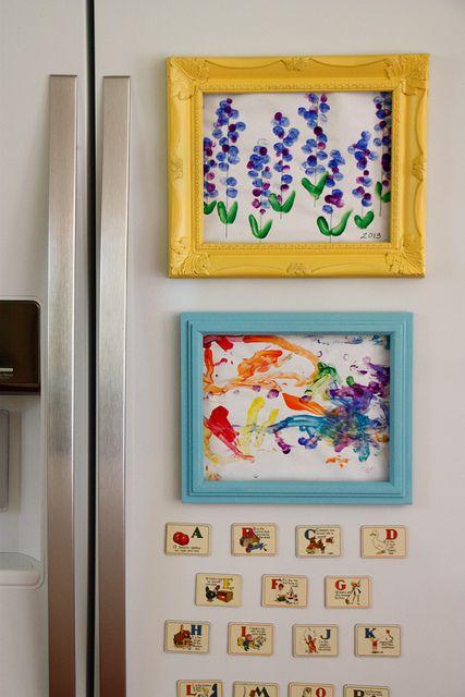 DIY Fridge Frames for framing kids\' art in style (by alliaars, via ...