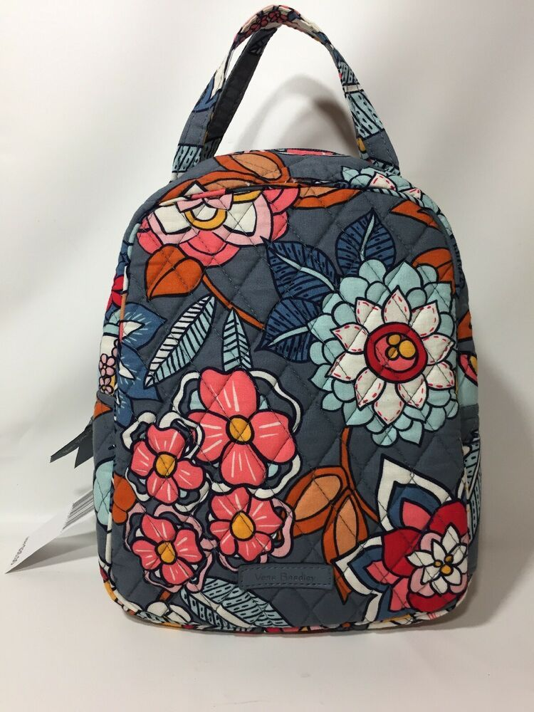 f38922100aee Details about Vera Bradley Lunch Bunch Insulated Lunch Bag Tropical ...