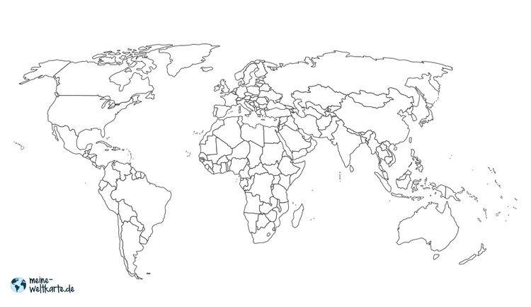 Weltkarte Grenzen Weltkarte Zum Ausmalen Mit Landesgrenzen
