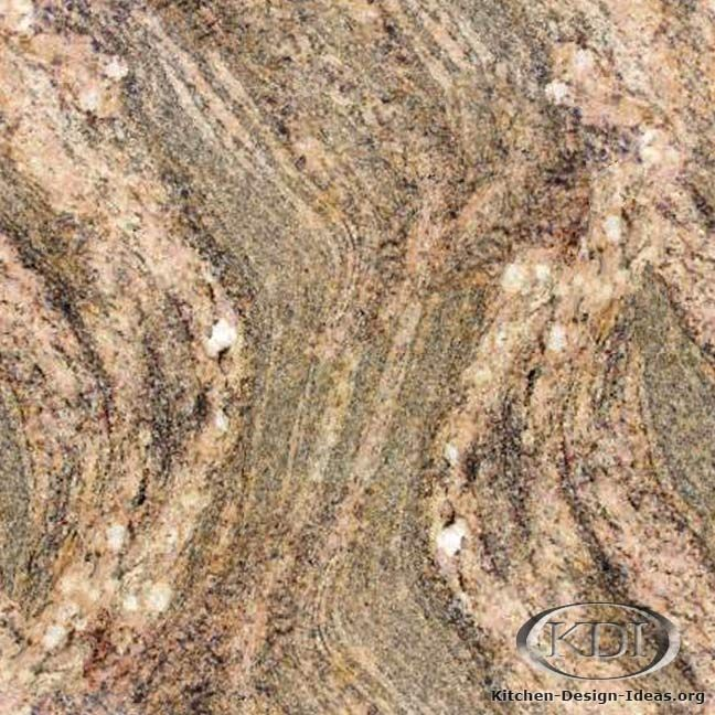 Juparana Colombo Gold Granite (Kitchen-Design-Ideas.org)