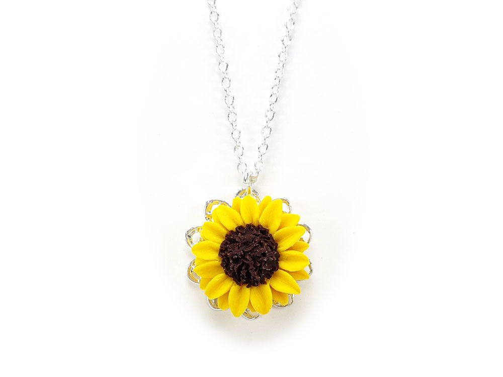 Sun Flower Pendant Bohemian Style Charm Necklace Chain Jewelry 6A