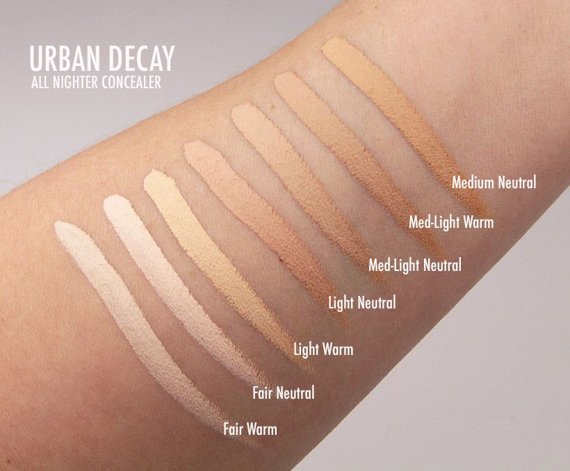 We Swatched Urban Decay All Nighter Waterproof Full Coverage