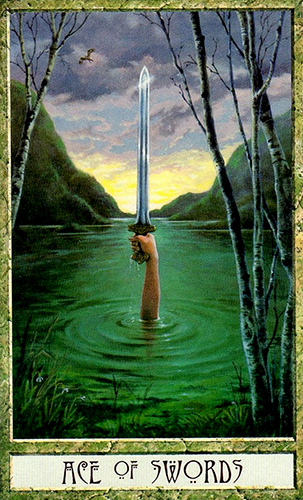 Free Daily Tarotscope -- Jun 16, 2015 -- Ace of Swords -- Today's card, the Ace of Swords — this version from the Druid Craft Tarot — is all about gaining the insight that is necessary to make decisions that are best for you (more)...