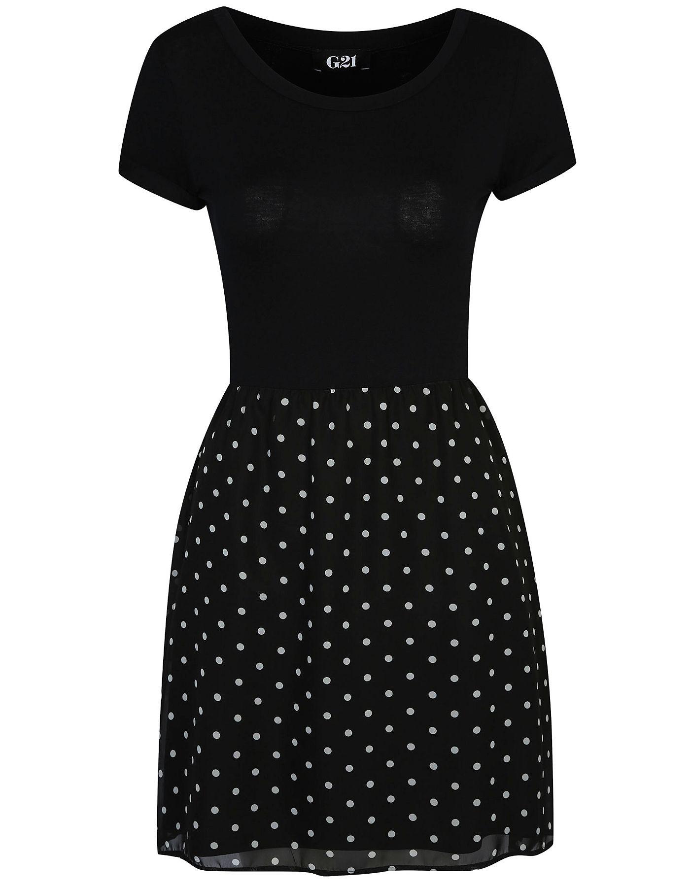 G21 Polka Dot Bottom Dress | Women | George at ASDA | <3 Style <3 ...