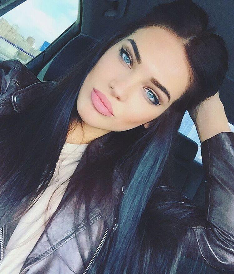 Instagram Photo By D A S H A D Mar 19 2016 At 11 49am Utc Black Hair Blue Eyes Lovely Eyes Beautiful Hair