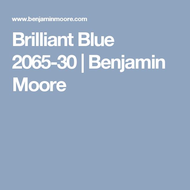 Brilliant Blue 2065-30    Benjamin Moore