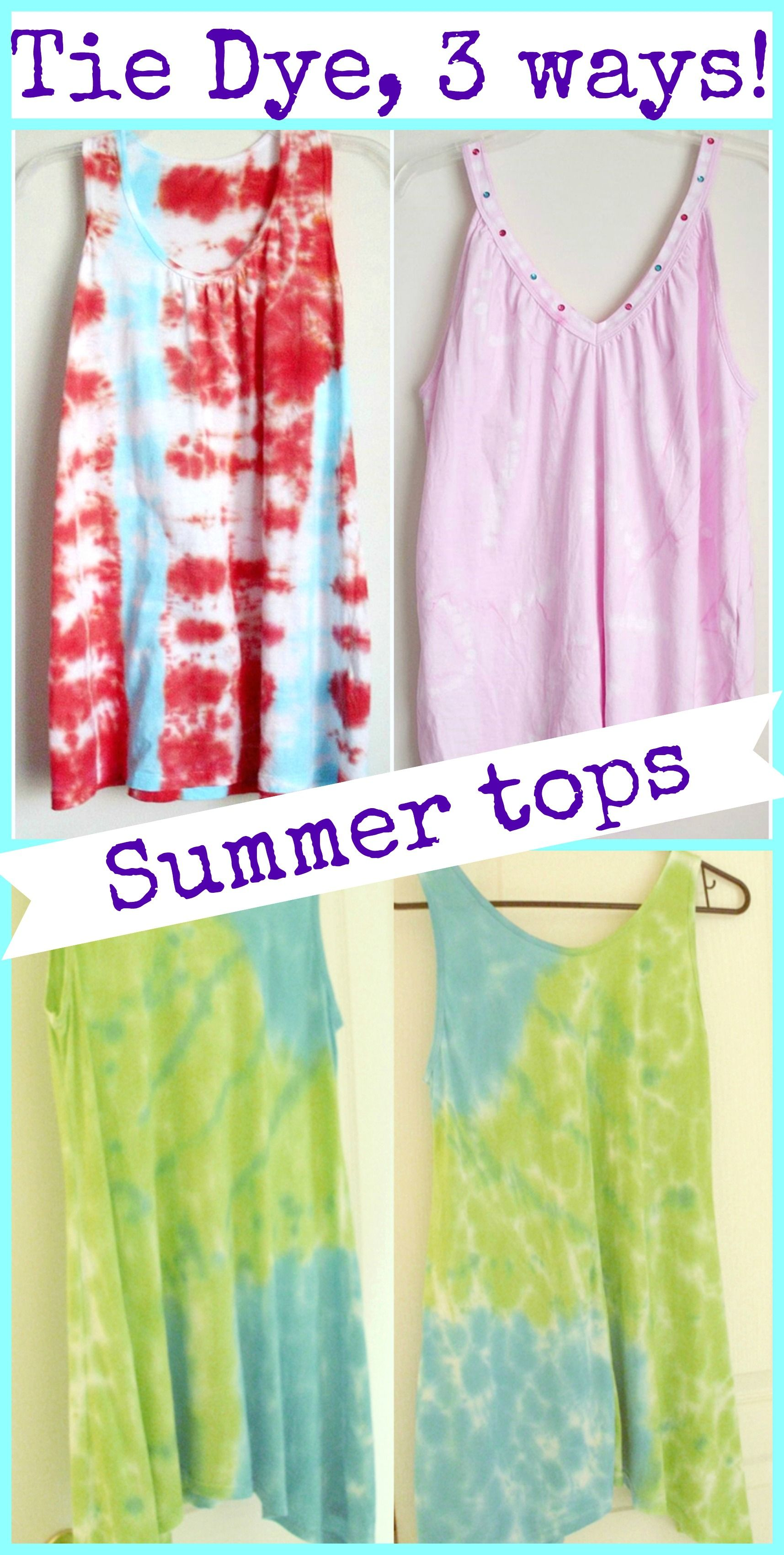 how to tie dye tank tops 3 different ways share today u0027s craft