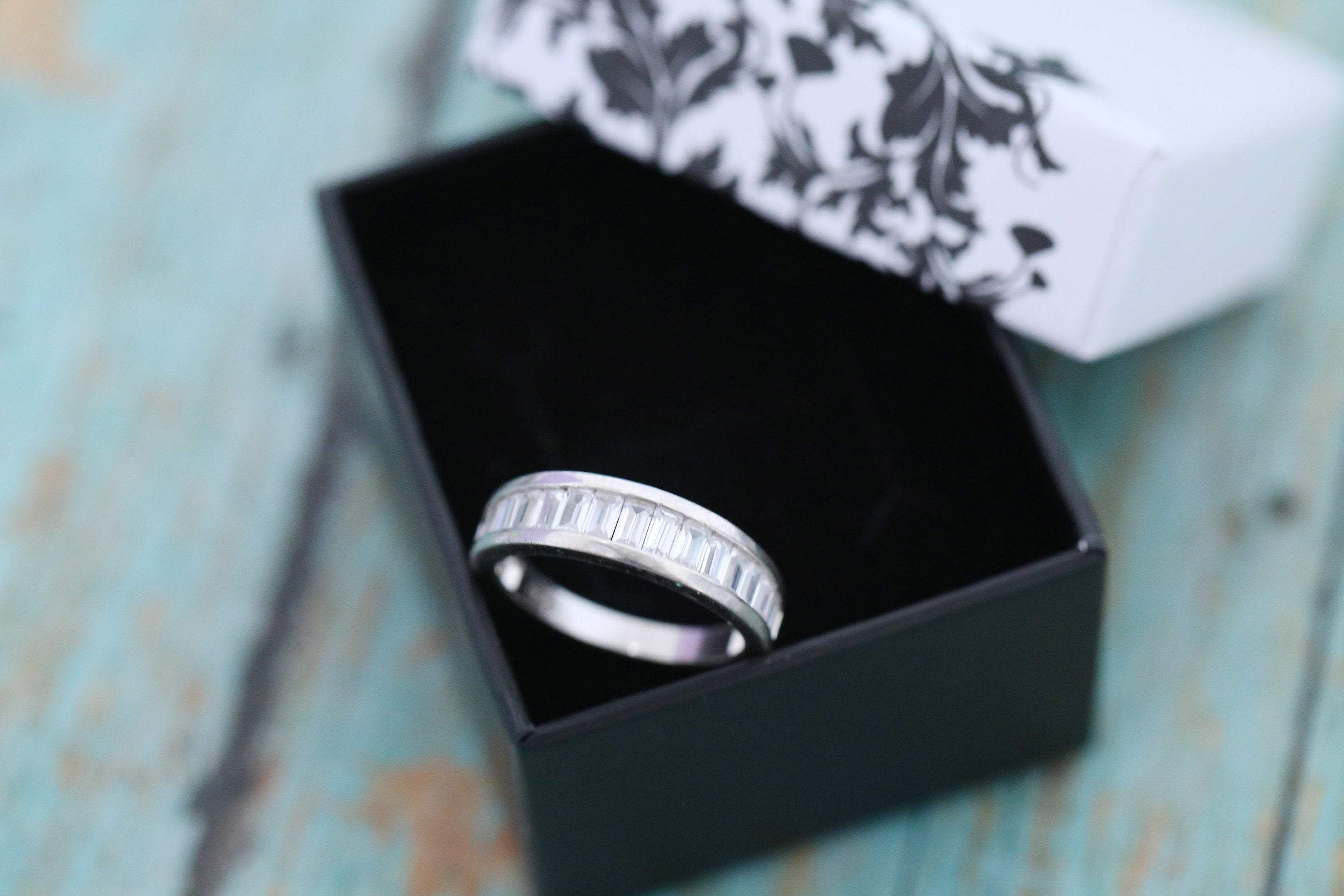 Can You Get Dna From Ashes After Cremation Sterling Silver Baguette Cremation Ash Band Ring Gold Silver Funeral Ash Ring Platinum Jewelry Pendant N In 2020 Ashes Jewelry Memorial Jewelry Ashes Jewelry
