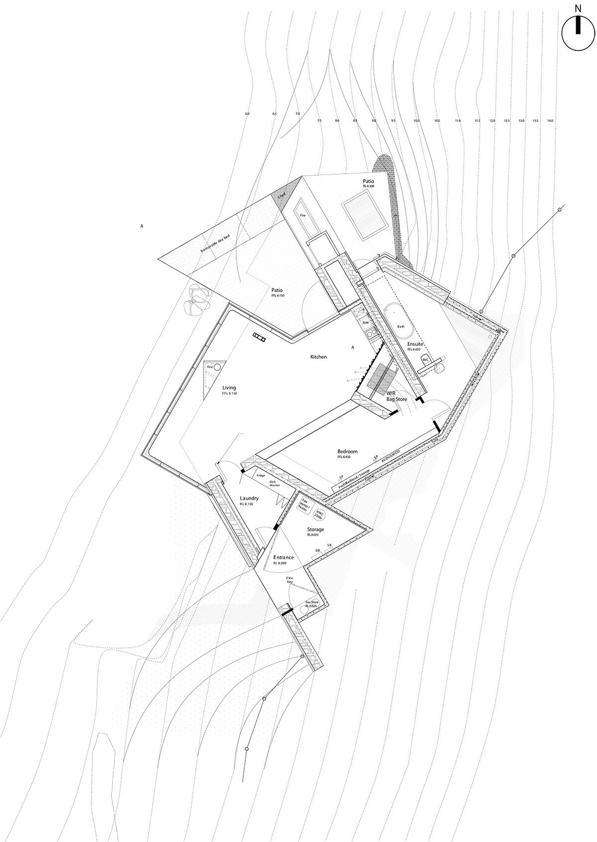 Sustainable Oceanfront Cabin On Remote Volcanic Mountainside Diagram Of Shield Volcano Seascape Retreat Is Located Within A Small Cove The Northern Shore Two Miocene Volcanoes In Banks Peninsula East Cost