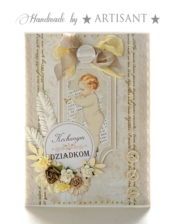Artisant Welcome Baby Paper Crafts Cards Vintage Baby