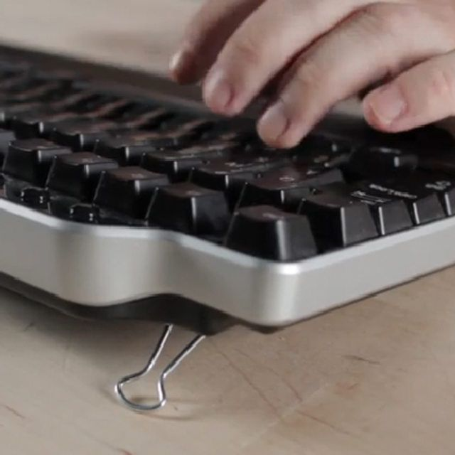 Use Binder Clips As Keyboard Feet (With Images