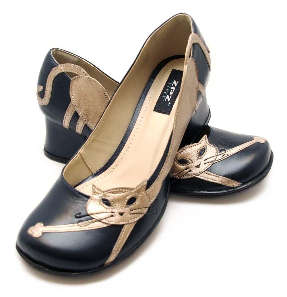 502239e5c Sapato Retrô Lazy Cat - ZPZ SHOES   Sapatos de Boneca   Sapatos ...