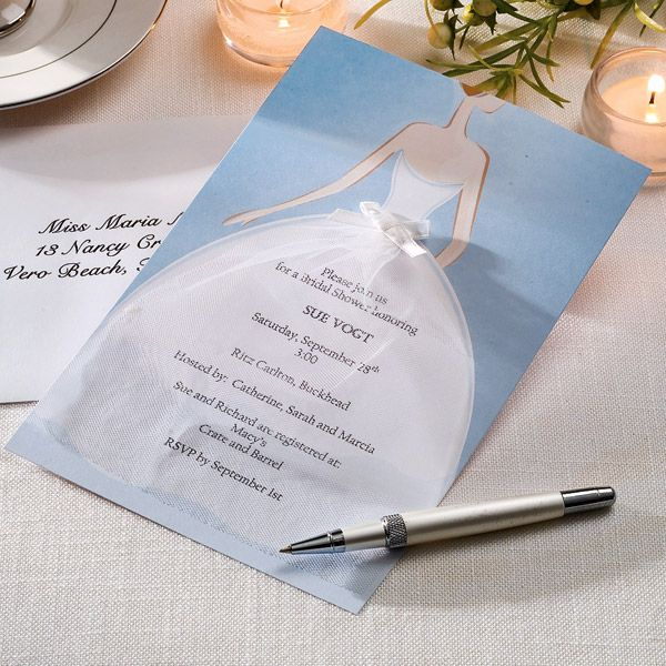 bride invitation kit