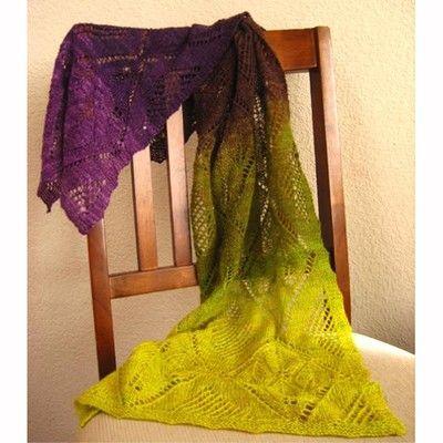 Gorgeous yarn and shawl