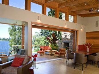 Beige Arts & Craft Exterior in Bellevue, WA by Darwin Webb Landscape Architects, P.S. | Porch
