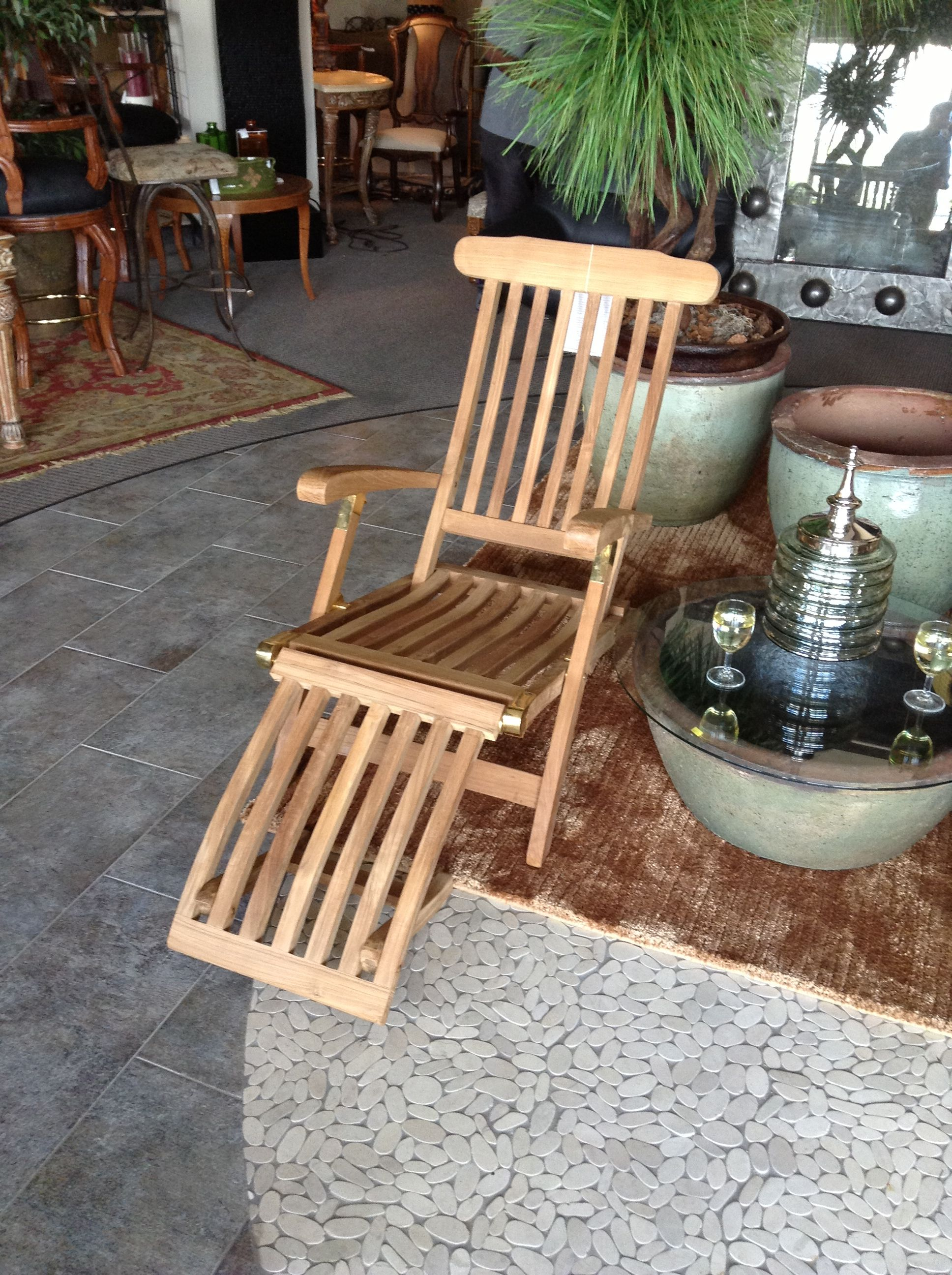 Beautiful Steamer Chair Found At Design With Consignment In Austin