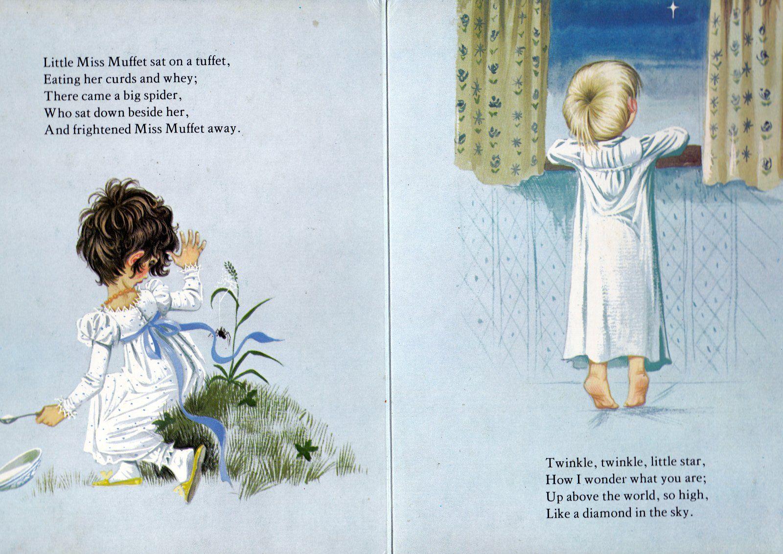 Little Miss Maffet & Twinkle, Twinkle, little star (1600×1133)