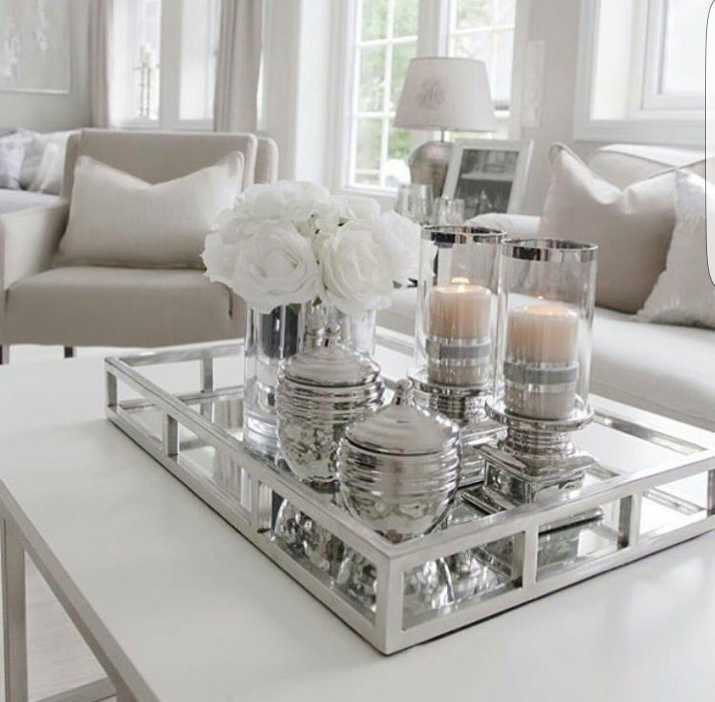 Living room table decorations - White Center Table For The Living Room