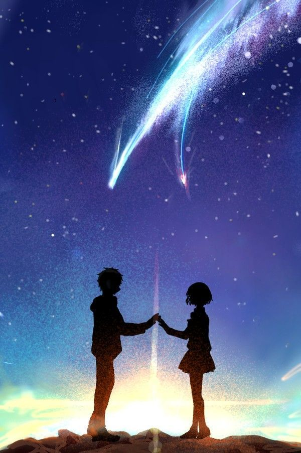 Wallpaper Anime Sky And Galaxy Wallpaper Animewallpaper Wallpaper Sky Galaxy Kawaii Wallpaper Kimi No Na Wa Wallpaper Kimi No Na Wa Anime Scenery