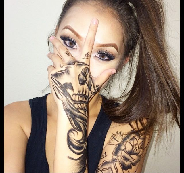 Tumblr Material Face Tattoos Skull Hand Tattoo Beauty Tattoos