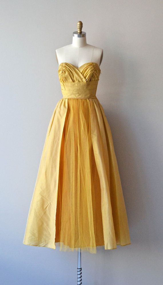 Lourmarin dress vintage 1950s dress 50s formal by DearGolden