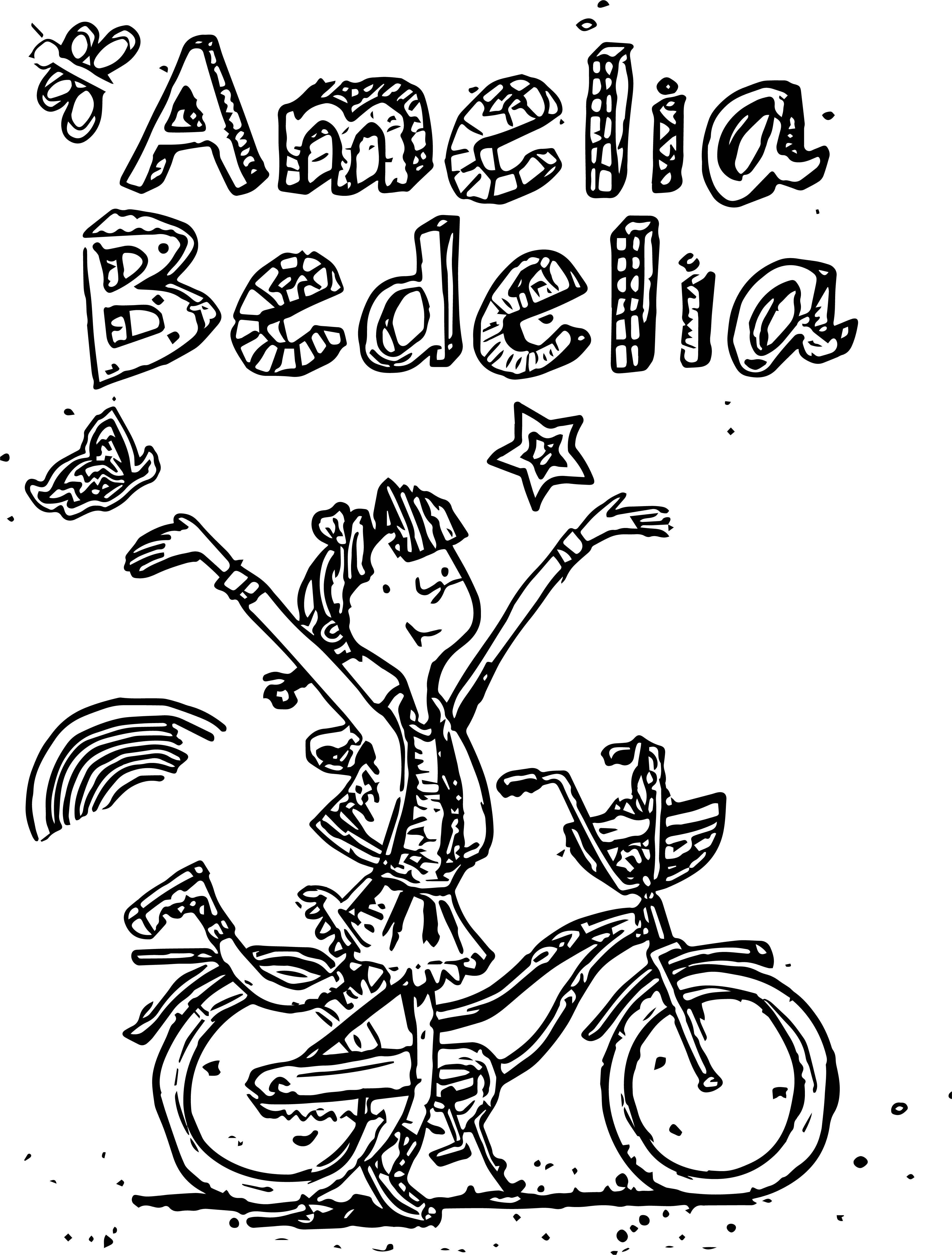 awesome Amelia Bedelia Drawing Biycle Coloring Page ...