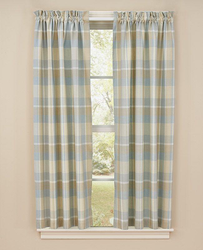 Serena Plaid Curtain Panels 72 X 63 Panel Curtains Plaid