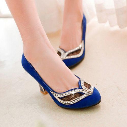 Grosso Med salto máscara de strass sexy sapatos de plataforma doce Bowtie sapatos de salto alto tamanho grande 33   43 em Bombas das mulheres de Sapatos no AliExpress.com | Alibaba Group