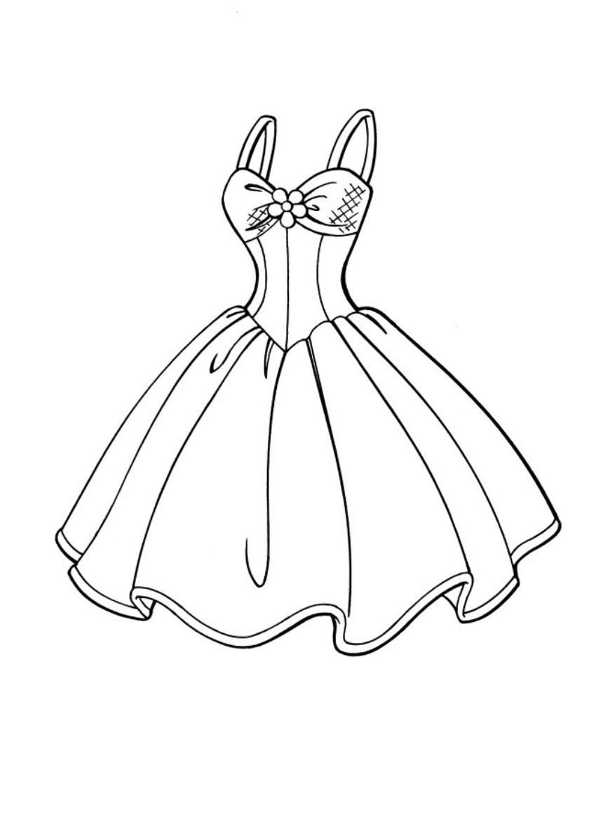 Dress For Barbie High Quality Free Coloring From The Category Barbie More Printable Pictures Barbie Coloring Pages Princess Coloring Pages Barbie Coloring