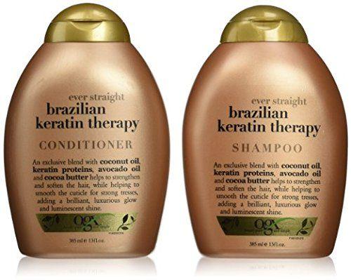 Organix Ever Straight Defrizzant Brazilian Keratin Therapy Shampoo